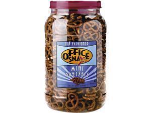 Office Snax 00082 Old Fashioned Mini-Pretzel Twists 40 oz Tub Pretzel Assortment