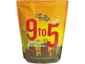 Office Snax 00058 9 to 5 Coffee, 100% Pure Arabica Original Blend Coffee - 1 Each