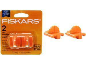 """Fiskars 196870-1001 Replacement Steel Blade Carriage for 12"""" Portable Trimmer, 2/Pack"""