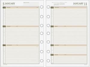 Day Runner 481285Y AT-A-GLANCE Weekly Planner Refill Size 4
