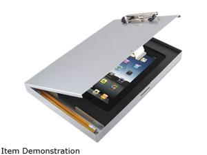"""Saunders 45450 - Storage Clipboard with iPad 2nd Gen / 3rd Gen Compartment, 1/2"""" Capacity, Silver"""