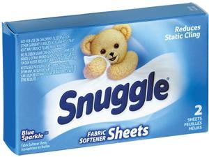 Snuggle VEN 2979929 Vend-Design Fabric Softener Sheets, Blue Sparkle, 2 Sheets / Box, 100 Boxes / Carton