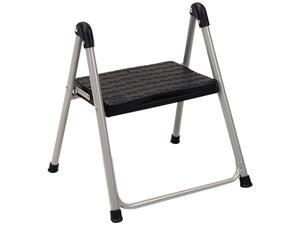 "Cosco 11014PBL1E Folding Step Stool, 1-Step, 200 lbs., 9.90"" Working Height, Platinum/Black"