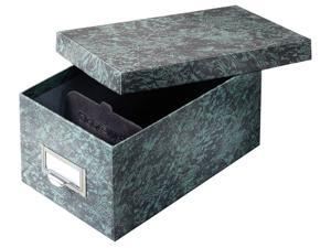 Globe-Weis 94GRE Agate Heavy-duty Card File Lid Box - 1000 x Card - Heavy Duty - Fiberboard - Green - For Card, Check - Recycled - 1 Each