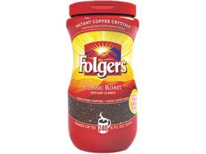 Folgers 2550006923 Classic Roast Instant Coffee Crystals 16 oz.