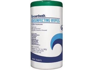 """Boardwalk BWK454W75 Disinfecting Wipes, 8"""" x 7"""", Fresh Scent, 75/Canister, 6 Canisters/Carton"""