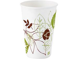 Dixie 12FPWS Paper Cold Cup, 12 oz. Flair, Pathways, Wise Size
