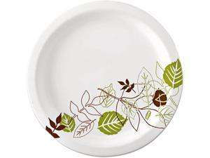 "Dixie UX9WSPK Pathways Mediumweight Paper Plates, 8.5"", WiseSize, Green/Burgundy, 125 per Pack"