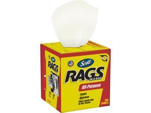 Scott Shop Rags In A Box (75260), White, 200 Shop Towels / Box
