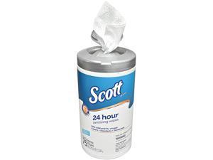 Scott 53609 24 Hour Sanitizing Wipes, Canister, White