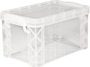 Advantus AVT40307 Super Stacker Storage Boxes, Hold 400 3 x 5 Cards, Plastic, Clear
