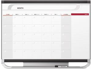 Quartet CP32P2 Prestige 2 Magnetic Monthly Calendar Board, 3' x 2', Total Erase Surface