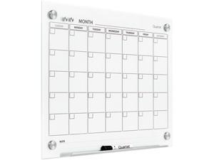 Quartet GC2418F Infinity Magnetic Glass Calendar Boards, 3' x 2'