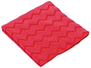Rubbermaid Commercial RCP Q620 RED HYGEN Microfiber Cleaning Cloths, 12 x 12, Red
