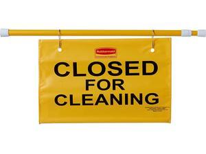 """Rubbermaid Commercial FG9S1500YEL Site Safety Hanging Sign, 13.00"""" h x 50.00"""" w x 1.00"""" d, Yellow"""