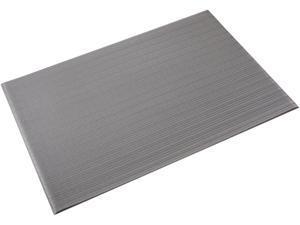 "Crown Mats FL 2436GY Ribbed Vinyl Anti-Fatigue Mat, 24"" x 36"", Gray"