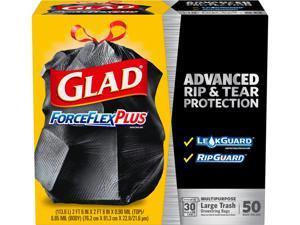 Glad 78997CT ForceFlexPlus Large Trash Drawstring Bags
