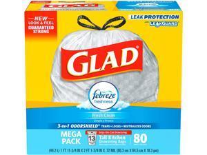 Glad 78899CT OdorShield Tall Kitchen Drawstring Trash Bags