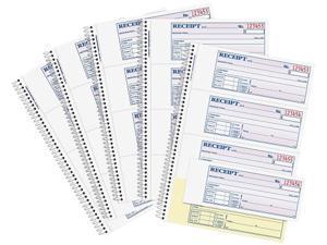 Adams SC1182PK Money / Rent Receipt Book, Spiral, 200 Set / Book