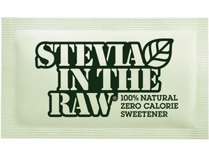 Stevia In The Raw 4480075050 Sweetener, 2.5 oz. Packets, 50 Packets/Box