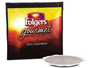 Folgers 63100 CASE Gourmet Selections Coffee Pods, 100% Colombian Regular, 18/Box, 6 Bx/Carton