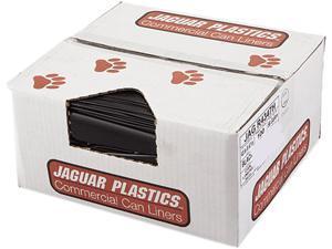 Jaguar Plastics JAG R4347H 43w x 47h, Black Repro Low-Density Can Liners