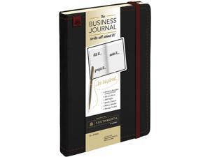 """Southworth 98886-01 Business Journal, Narrow Rule, Black Cover, 8.25"""" x 5.13"""", 240 Sheets"""