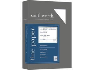 Southworth 31-620-10 Quality Bond Business Paper, 95 Bright, 20 lb, 8.5 x 11, White, 500/Ream