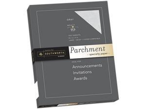 Southworth P974CK/3/36 Parchment Specialty Paper, 24 lb, 8.5 x 11, Gray, 100/Pack