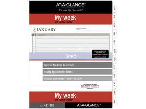 AT-A-GLANCE 49128521 2-Page-Per-Week Planner Refills, 11 x 8.5, White, 2021