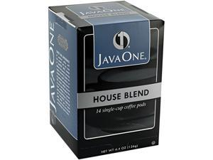 Java Trading Corporation 39840306141 Coffee Pods, House Blend, Single Cup, 14/Box
