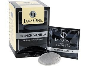 Java Trading Corporation 39870406141 Coffee Pods, French Vanilla, Single Cup, 14/Box