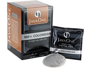 Java Trading Corporation 39830206141 Coffee Pods, Colombian Supremo, Single Cup, 14/Box
