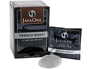 Java Trading Corporation 39830806141 Coffee Pods, French Roast, Single Cup, 14/Box