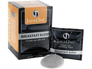 Java Trading Corporation 39830106141 Coffee Pods, Breakfast Blend, Single Cup, 14/Box