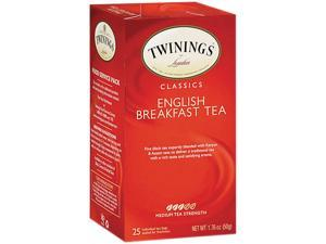 Twinings 09181 Tea Bags, English Breakfast, 1.76 oz, 25/Box
