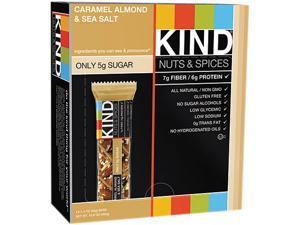 KIND 18533 Nuts and Spices Bar, Caramel Almond & Sea Salt, 1.4 oz Bar, 12/Box