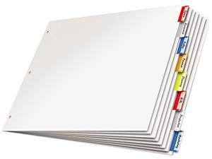 Cardinal 84816 Paper Insertable Dividers, 8-Tab - Multi-Color