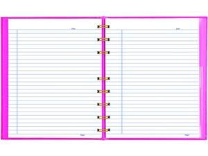 Blueline A7150.PNK4 NotePro Notebook, 1 Subject, Narrow Rule, Bright Pink Cover, 9.25 x 7.25, 75 Sheets