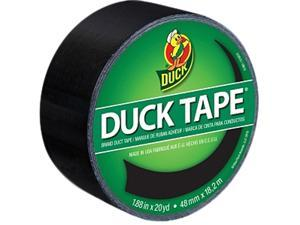 """Duck Colored Duct Tape 1.88"""" Width x 60 ft Length - 1 / Roll - Black"""