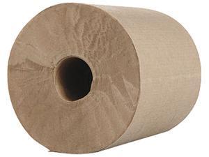 Morcon Paper MOR R12600 Morsoft 1-Ply Hardwound Towel Roll, 600 ft L, Kraft Paper; 12/Case