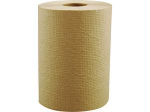 """Morcon Paper MOR R12350 Morsoft Universal Roll Towels, 8"""" x 350 ft, Brown, 12 Rolls/Carton"""