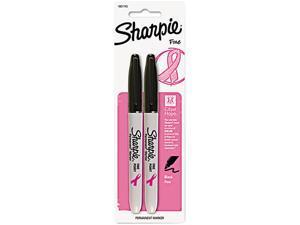 Sharpie Permanent Marker Fine Marker Point Type - Black Ink - 2 / Pack