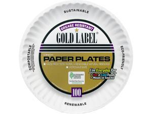 """AJM Packaging Corporation CP9GOEWHCT Plates, Paper, 9""""Dia, 1000/CT, White"""