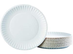 """AJM Packaging Corporation AJM PP9GRAWH PACK 9"""" Diameter, White, 100/Pack"""