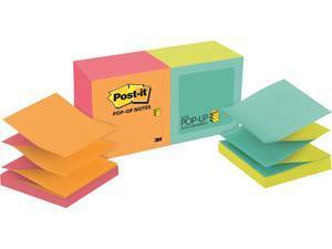 Post-it R330-N-ALT Original Pop-up Refill, Alternating Cape Town Colors, 3 x 3, 100-Sheet, 12/Pack