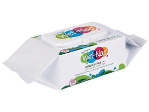 """Nice Pak M970SH Hands and Face Cleansing Wipes, 7"""" x 6"""", White, Fragrance-Free, 110/Pack, 6 Packs/Carton"""