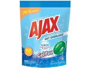 Ajax 845514048038 Oxy Overload Laundry Detergent Pods, Fresh Burst Scent, 16 Pods/Pouch, 8 Pouches/Carton