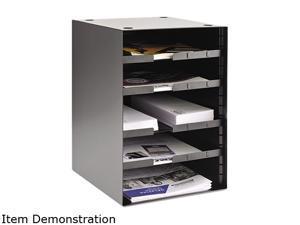 SteelMaster 206511004 Steel Desktop Sorter, Five Shelves, 11 1/8 x 12 x 19 1/2, Black