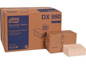 "Tork DX990 Xpressnap Interfold Dispenser Napkins, 2-Ply, 6.5"" x 8.5"", White, 6000/Carton"